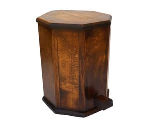 etsy, art deco wood, and pedal bin image