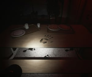 abandoned, eerie, and handprint image