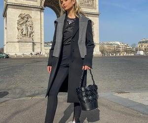 arc de triomphe, black coat, and blogger image