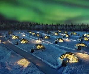 finland, travel, and igloo image