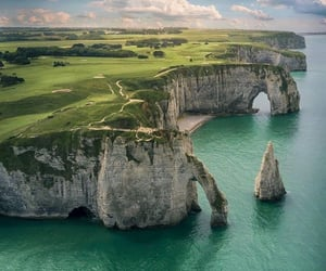 cliff, france, and cliffs image