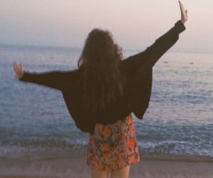 girl, alternative, and beach image