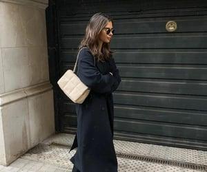 black coat, fashion, and blogger image