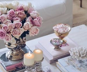 aesthetic, bouquet, and candles image