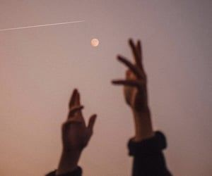 hands, life, and moon image