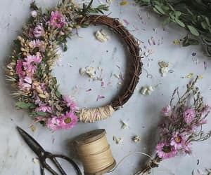 flowers and wreath image