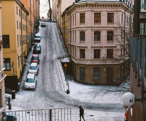 photography, snow, and stockholm image
