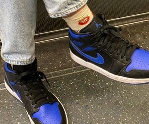 black sneakers, nike, and streetwear image