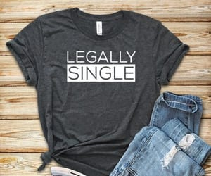 single, t-shirt, and divorced image