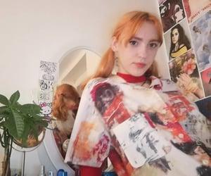 orange hair, girl, and red aesthetics image