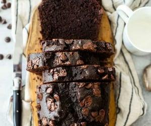 banana, cake, and dark chocolate image