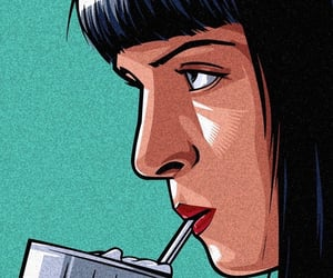 mia wallace, pulp fiction, and retro image