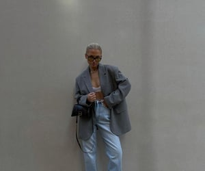 Balenciaga, grey blazer, and new balance image