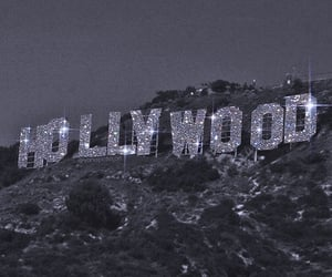 hollywood, aesthetic, and black and white image
