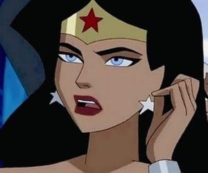 cartoon, icon, and wonder woman image