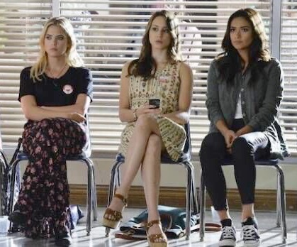 spencer hastings, hanna marin, and emily fields image