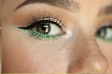 article, green, and makeup image