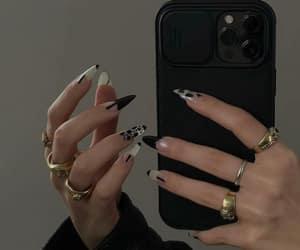 nails, rings, and girl image