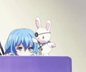 anime, bear, and blue image