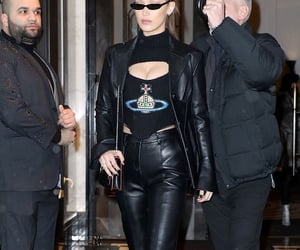 black sweater, vivienne westwood, and leather blazer image