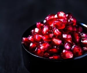 food, fruit, and pomegranate image