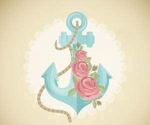 anchors, flower, and pink image
