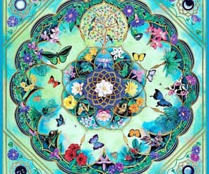 hand painted, mandala, and visionary art image