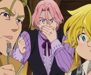anime, meliodas, and screenshot image