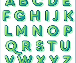 alphabet, drawings, and letters image