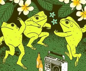 art, cottagecore, and frog image
