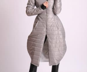 winter coat, etsy, and warm coat image