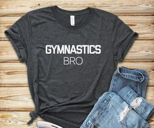 t-shirt, bro, and gymnastics image