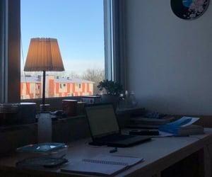 desk, girl, and math image