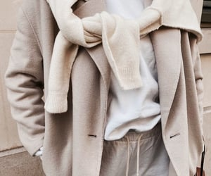 beige, clothes, and coat image