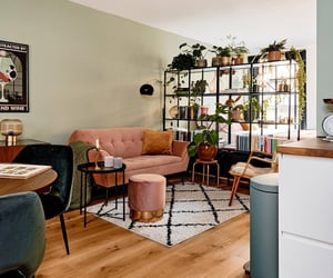 apartment, bohemian, and colorful image