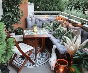 balcony, chilling, and furniture image