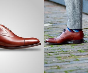 brogue shoes, leather brogues, and black brogue image