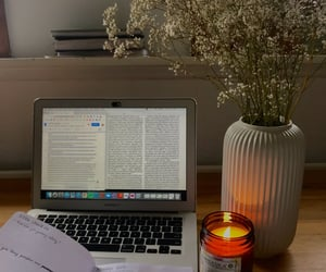 candle, study, and writing image