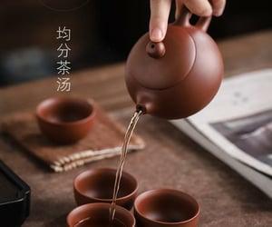 tea, tea cups, and ceramic tea cups image