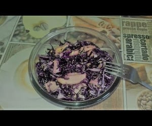 red cabbage, salad, and fast salad image