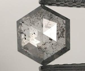 diamond, natural diamond, and hexagon shape diamond image