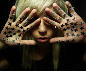 stars, girl, and blonde image