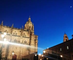 cathedral, salamanca, and night image