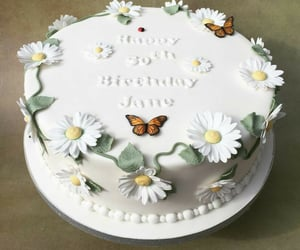 age, cake, and flower image