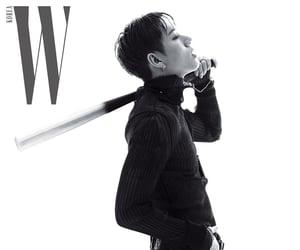 black and white, kpop, and magazine image