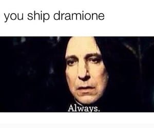 ship, snape, and dramione image