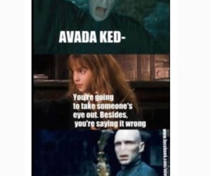 hermione, spell, and voldemort image