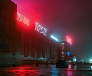 neon, night, and street image