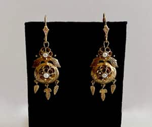 dream catcher, etsy, and chandelier earrings image