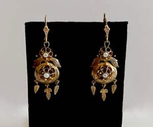 dream catcher jewelry, dream catcher, and pierced earrings image
